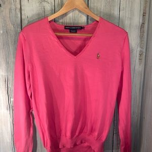 RALPH LAUREN SPORT Hot Pink LS Sweater
